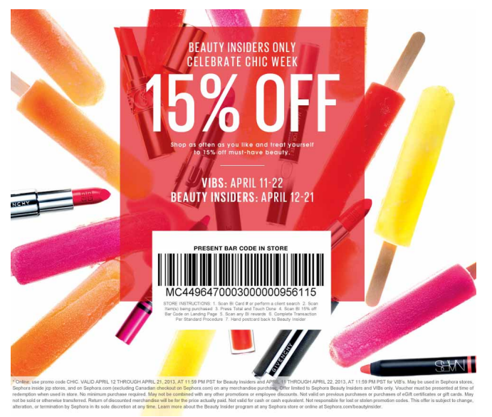 Sephora coupons 20 off printable